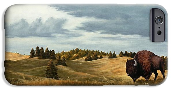 American Bison iPhone Cases - Bison  Wind Cave Park  South Dakota iPhone Case by Rick Bainbridge