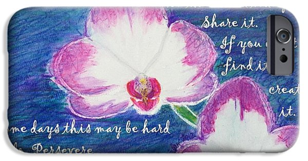 Inspirational iPhone Cases - Bit Of Beauty For Lisa iPhone Case by Denise Railey