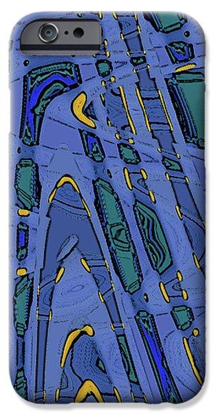 Ben Gertsberg Digital Art iPhone Cases - Bits And Pieces - Cool iPhone Case by Ben and Raisa Gertsberg