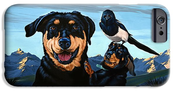 Black Dog iPhone Cases - Bitterroot Blue Magic iPhone Case by Philip Slagter