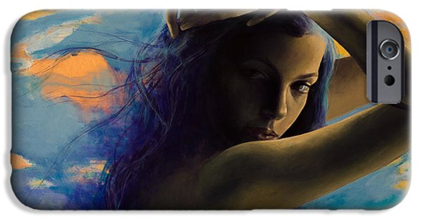 Purple Sensation iPhone Cases - BitterSweet iPhone Case by Dorina  Costras