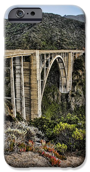 Bixby Bridge iPhone Cases - Bixby Creek Bridge iPhone Case by Heather Applegate