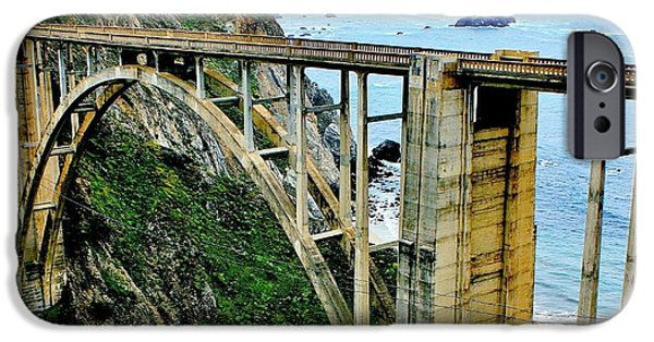 Pch iPhone Cases - Bixby Creek Bridge Panorama iPhone Case by Benjamin Yeager