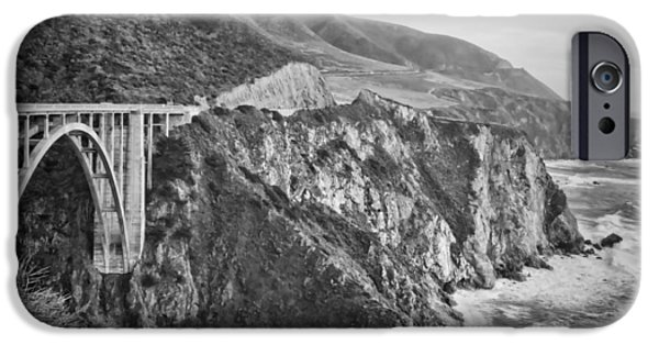 Big Sur Ca iPhone Cases - Bixby Overlook iPhone Case by Heather Applegate