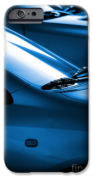 Black and Blue Cars iPhone Case by Carlos Caetano