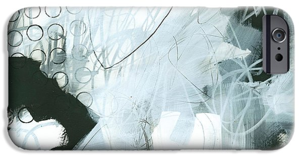 Panels iPhone Cases - Black and White #1 iPhone Case by Jane Davies