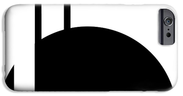 Ely Arsha iPhone Cases - Black and White Art - 127 iPhone Case by Ely Arsha