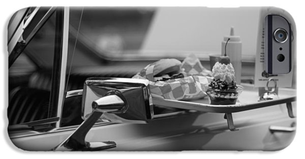 Waiter Photographs iPhone Cases - Black And White Carhop iPhone Case by Dan Sproul