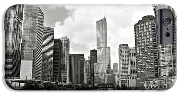 High Park Fire iPhone Cases - Black and White Chicago iPhone Case by Frozen in Time Fine Art Photography