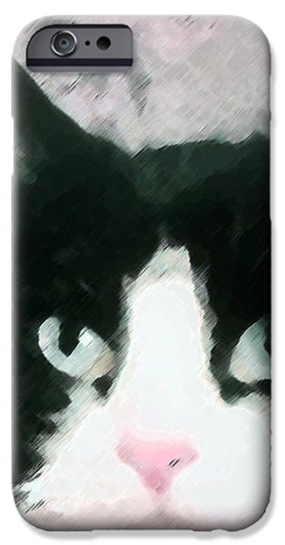 Black and White iPhone Case by Dennis Buckman