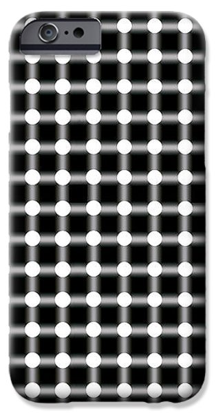BLACK and WHITE DOTS iPhone Case by Daniel Hagerman