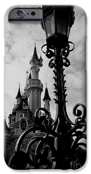 Faries iPhone Cases - Black and White Fairy Tale iPhone Case by Donato Iannuzzi