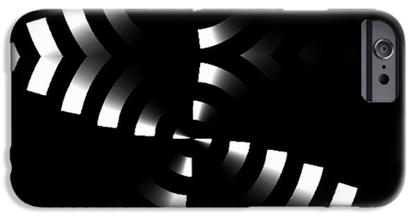 Shower Curtain iPhone Cases - Black and White II iPhone Case by Rafael Salazar