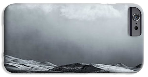 Winter Storm iPhone Cases - Black And White Image Of A Clearing iPhone Case by Robert Postma