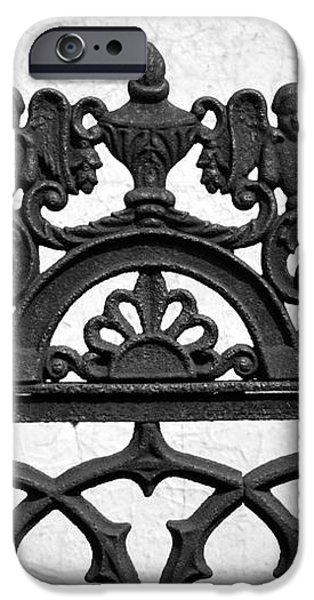 Black and White Ironwork iPhone Case by Alys Caviness-Gober