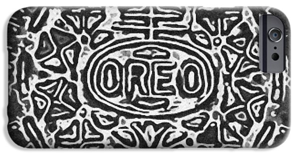 Oreo iPhone Cases - Black And White Oreo iPhone Case by Rob Hans