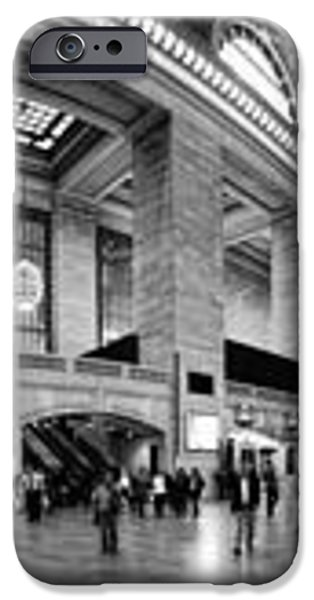 Black and White Pano of Grand Central Station - NYC iPhone Case by David Smith