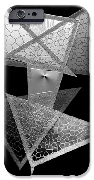 Black and White Triangles iPhone Case by Mario  Perez