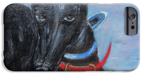 Rescued Greyhound iPhone Cases - Black beauty iPhone Case by Lucille  Valentino