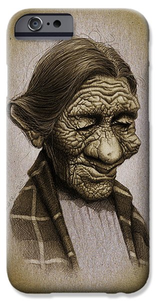 Caricature Digital Art iPhone Cases - Black Belly iPhone Case by Andre Koekemoer