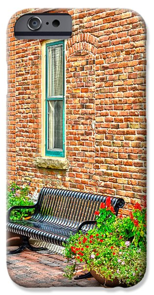 Fort Collins iPhone Cases - Black Bench iPhone Case by Keith Ducker
