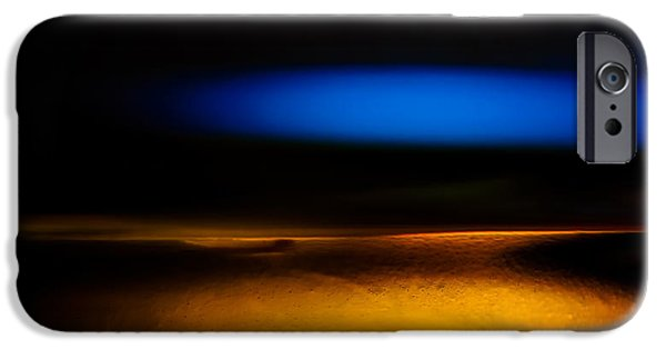 Fine Art Abstract iPhone Cases - Black Blue Yellow iPhone Case by Bob Orsillo
