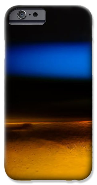 Black Blue Yellow iPhone Case by Bob Orsillo