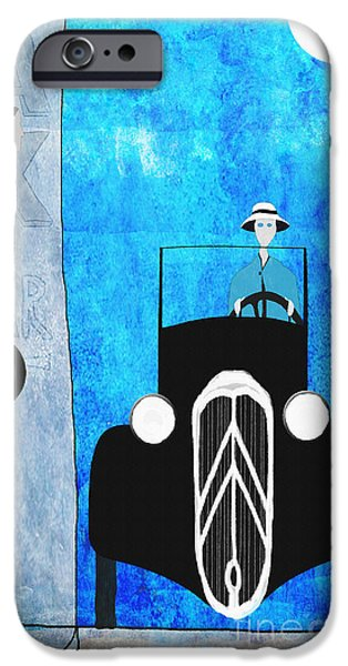 Waiter Drawings iPhone Cases - Bonsoir iPhone Case by J Ripley Fagence