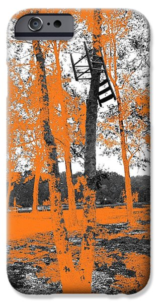Ladder Back Chairs iPhone Cases - Black Chairs iPhone Case by April Ann Canada Photography
