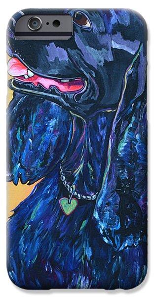 Black Dog iPhone Cases - Black Cocker Spaniel iPhone Case by Patti Schermerhorn