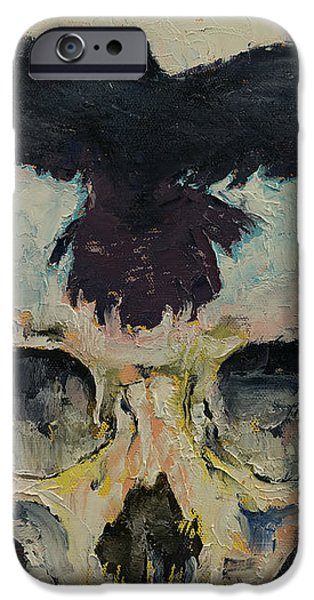 Black Crow iPhone Case by Michael Creese