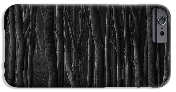 Eerie iPhone Cases - Black Forest iPhone Case by Heiko Koehrer-Wagner