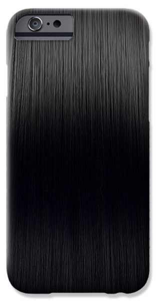 Hairstyle Digital iPhone Cases - Black Hair Perfect Straight iPhone Case by Allan Swart