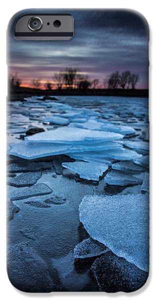 Beaver Lake iPhone Cases - Black Ice iPhone Case by Aaron J Groen