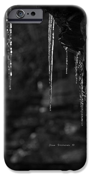Ledge iPhone Cases - Black Ice iPhone Case by John Stephens