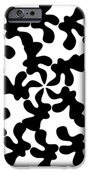 Black Ink Shape iPhone Case by Frank Tschakert
