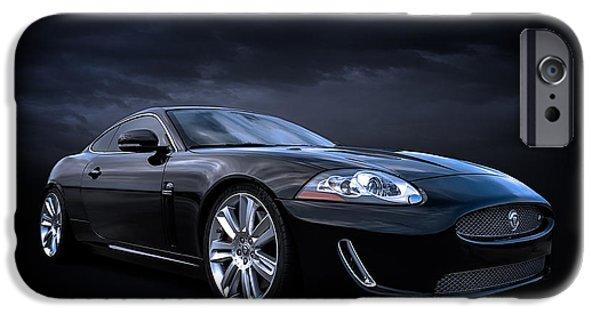 Automotive iPhone Cases - Black Jaguar iPhone Case by Douglas Pittman
