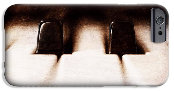 Piano Photographs iPhone Cases - Black Keys D Flat and E Flat  iPhone Case by Scott Norris