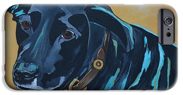 Black Dog iPhone Cases - Black Lab iPhone Case by Patti Schermerhorn