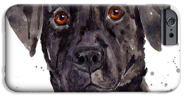 Dog iPhone Cases - Black Labrador iPhone Case by Alison Fennell