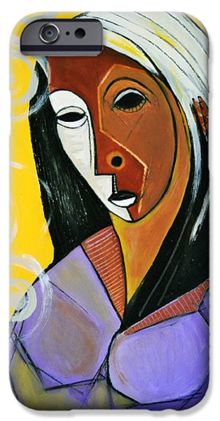Robert Daniels iPhone Cases - Black Madonna iPhone Case by Robert Daniels