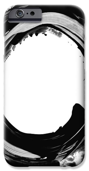 Online-art Paintings iPhone Cases - Black Magic 310 by Sharon Cummings iPhone Case by Sharon Cummings