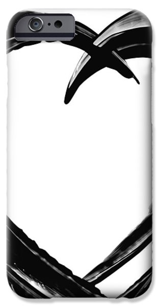 Heart Paintings iPhone Cases - Black Magic 311 by Sharon Cummings iPhone Case by Sharon Cummings