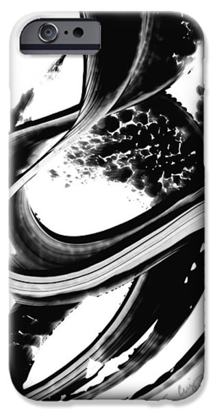 Abstract Print iPhone Cases - Black Magic 313 by Sharon Cummings iPhone Case by Sharon Cummings