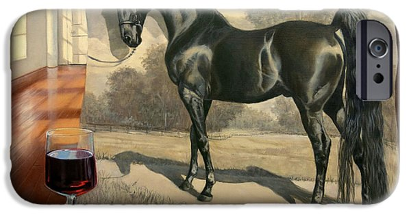 American Saddlebred iPhone Cases - Black Magic iPhone Case by Jeanne Newton Schoborg