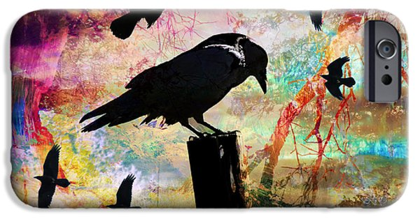 Crows iPhone Cases - Black Magic iPhone Case by Robert Ball