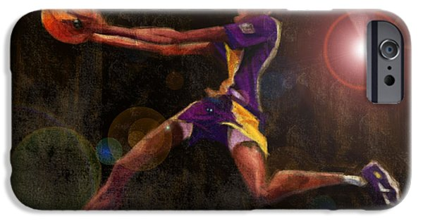 Kobe Bryant Abstract iPhone Cases - Black Mamba iPhone Case by Jumaane Sorrells-Adewale