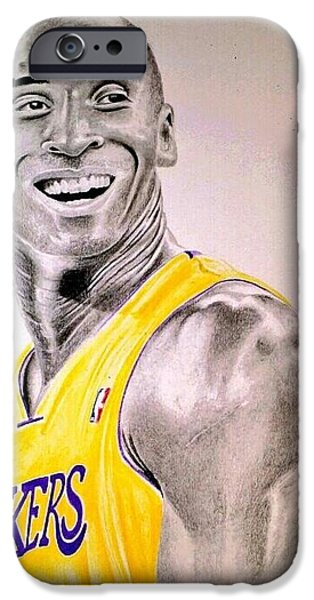Bryant Drawings iPhone Cases - Black Mamba iPhone Case by Patrick Rose