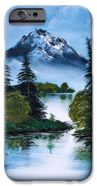 Recently Sold -  - Bob Ross Paintings iPhone Cases - Black Mountain iPhone Case by Shannon Wells