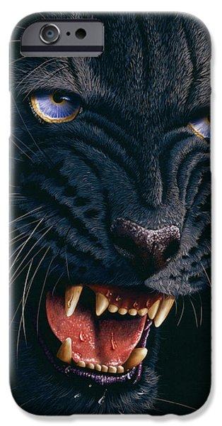Black Panther 2 iPhone Case by Jurek Zamoyski